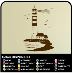 Sticker LIGHTHOUSE Maritime cm 58x90 wall Stickers, wall, door, kitchen, bathroom, WC, living room