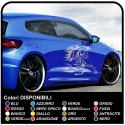 Stickers horses 80 cm TRIBAL Decals, side horse prancing tuning tattoo auto sport tuning