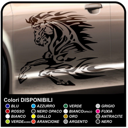 Horses car stickers 80 cm Adhesive side prancing horse tuning tattoo car stickers tribal tuning