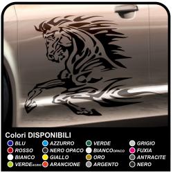Pferde-aufkleber für auto 80 cm Aufkleber seitlich springende pferd-tuning tattoo auto aufkleber tuning tribal