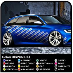tablero de ajedrez lado adhesivo efecto desgastado cm 350 de la bandera a cuadros DEPORTES carreras de coches, furgonetas y
