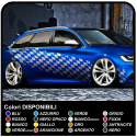 checkerboard side adhesive worn effect cm 350 checkered flag SPORTS racing for cars, buses and vans