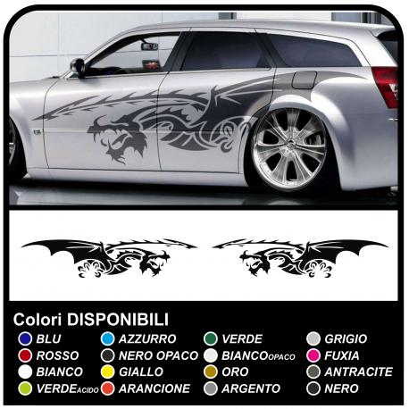 Pegatinas DRAGÓN bandas laterales de adhesivos para coches, furgonetas, autocaravanas de 250 cm de lado de rayas Tribales de