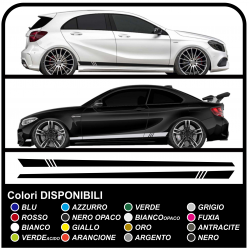 Auto adhesivo lateral DEPORTE de carreras Tuning Racing stripes calcomanías de coches