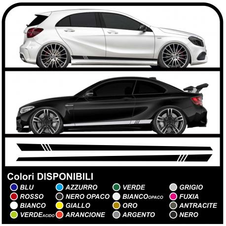 Auto adhesivo lateral DEPORTE de carreras Tuning Racing stripes calcomanías de coches