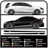 Self adhesive sideband racing SPORT Tuning Racing stripes decals car
