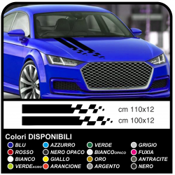 Adesivi Cofano auto universali Decal Stripe decorazione auto tuning Sticker Racing Stripe