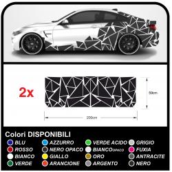 Pegatinas lados-alquiler de Triángulos Conjunto completo de Camuflaje para auto coche Calcomanía de carreras de la etiqueta