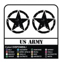 Decals renegade decals STAR MILITARY US ARMY for jeep renegade worn effect 20 cm for the upright star 20 cm