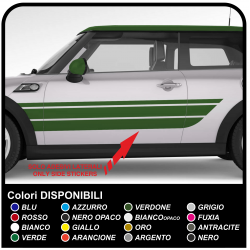 Des autocollants, des corps-bandes latérales de décoration de voiture bandes latérales autocollants décalques Autocollants de