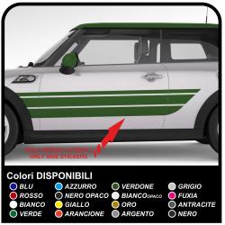 Pegatinas, cuerpo de franjas laterales de la decoración del coche franjas laterales de pegatinas de coches Pegatinas calcomanías