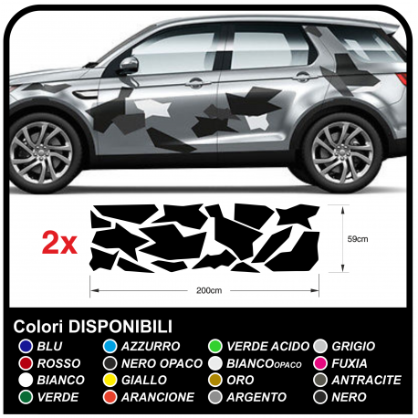 Adhesive CAMOUFLAGE for suv off-road and car graphics decorative car stickers camouflage stickers decals