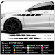 Adesivi fiancate laterali Auto Tuning laterali alti o bassi universali per auto