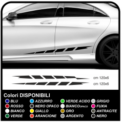Adhesive stripes on the side Car side car decals side high or low for auto-tuning