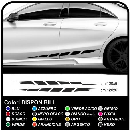 Adhesivo de rayas en el lateral del Coche coche de lado calcomanías lado de alta o de baja de auto-sintonización