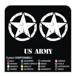 3 Stickers STAR cm 50 Jeep CJ CJ3 CJ5 CJ7 CJ8, US ARMY star military 4X4