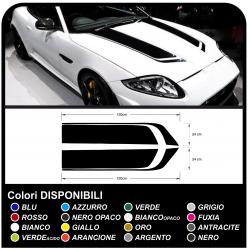Adesivi cofano universali per auto decorazione racing universale per auto