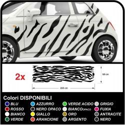 Autocollants de voiture graphiques zèbre Camouflage des zébrures Safari décoration, voiture, tuning décalques