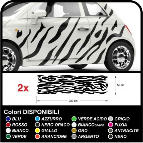 Adesivi per auto grafica zebrata Camouflage Zebra strisce Safari decorazione auto tuning decals
