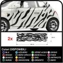Car stickers graphics zebra Camouflage Zebra stripes Safari decoration, car, tuning decals