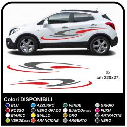 Adesivi per auto suv crossover ed auto di medie dimensioni Tuning Tribal cm220 BICOLORE camper van roulotte