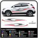 Stickers for car, suv, crossover and mid-size car Tuning Tribal cm220 two-tone camper van caravan