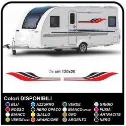 Adesivi per roulotte, camper auto furgoni Caravan Sticker tuning grafica decorativa camper e roulotte cm120