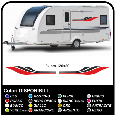Stickers for caravans, camper car van Caravan Sticker tuning graphics decorative camper and caravan cm120