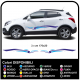 2x Stickers for car suv crossover Tuning Decor Tribal two-tone 170cm width