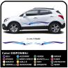 2x Pegatinas para el coche suv crossover de Optimización Decoración Tribal de dos tonos de 170 cm de ancho