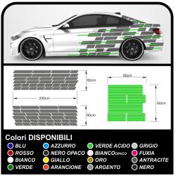 Adesivi laterali per auto da corsa racing auto adesivi mimetici Camo camouflage autoadesive racing BICOLORE