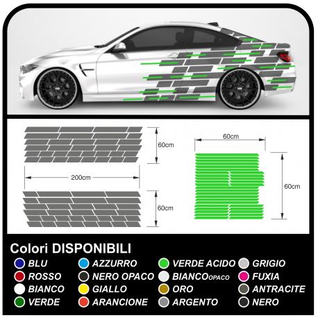 Pegatinas lado para el coche de carreras, carreras de coches pegatinas de camuflaje Camo camuflaje auto-adhesivo de carreras de