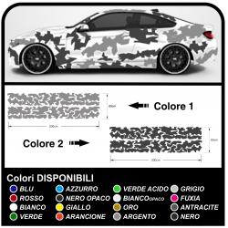 Adesivi auto mimetici Camouflage kit decorazione auto US ARMY effetto mimetico universale  Sticker decorazione Tuning Camo