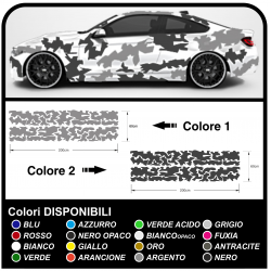 Adhesive car camouflage Camouflage kit car decoration US ARMY camouflage effect universal Sticker decoration Tuning Camo
