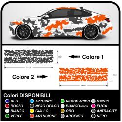 adesivi fiancate auto bicolore, grafica auto US ARMY militare decorazione auto