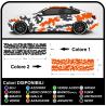 pegatinas lados, auto-patrón de tonos, gráficos coche EJÉRCITO de los EE.UU. militar de la decoración del coche