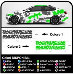 Adesivi per fiancate auto mimetici grafica US ARMY militare adesivi mimetici BICOLORE Sticker decals