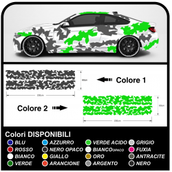 Der aufkleber für die fahrzeugseite auto-camouflage-grafik, US-ARMY-militär-aufkleber camouflage ZWEIFARBIG Sticker decals