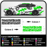 Stickers for the sides car camouflage graphics US ARMY military decals camouflage two-tone Sticker decals