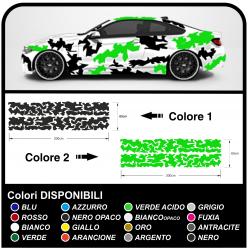 Adesivi mimetici per auto Camouflage grafica militare bicolore