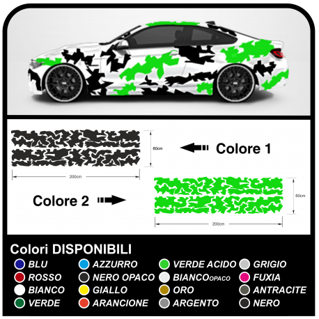 Stickers camouflage car Camouflage graphics military two-tone