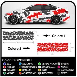 Côté adhésif voiture camouflage kit de Camouflage de la VOITURE de course course de l'ARMÉE américaine voiture militaire