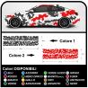 Lado adhesivo coche de camuflaje Camuflaje kit de COCHE de carreras del EJÉRCITO de EE.UU. coche militar de la etiqueta