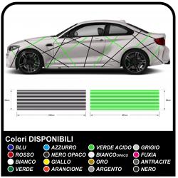 Aufkleber auto universal für alle fahrzeuge, Linien, selbstklebenden abziehbilder racing tuning mit linien zweifarbig