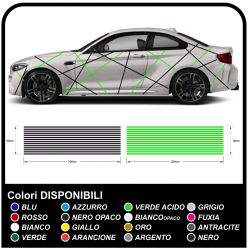 Stickers for car universal for all the car Lines in the stickers decals racing tuning with lines two-tone