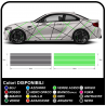 Adesivi auto universale per tutte le auto Linee adesive decalcomanie racing tuning con linee bicolore