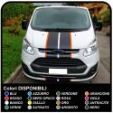 Aufkleber TRANSIT M-SPORT bicolor Seitenteile und motorhaube Van grafiken, van aufkleber decals streifen ford transit custom