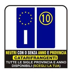 AUTOCOLLANTS Plaque d'immatriculation bandes RÉFLÉCHISSANTES - KIT