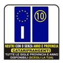 Kit ADESIVI PER TARGA motociclo moto Europa custom sticker decal