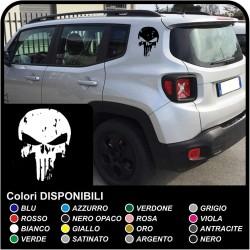 aufkleber Totenkopf used für seitenteil hinten jeep renegade sticker Jeep Renegade totenkopf Punisher